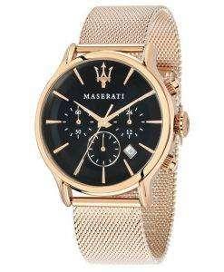 マセラティ刊行物に掲載クロノグラフ クォーツ R8873618005 メンズ腕時計