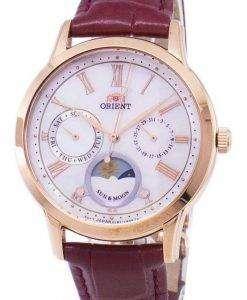 太陽の方向を設定し、月の水晶 RA KA0001A10B レディース腕時計