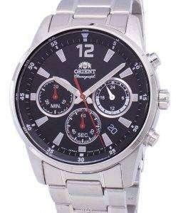オリエント時計スポーツ クロノグラフ クォーツ RA KV0001B10B メンズ