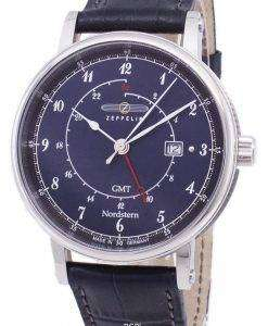 ツェッペリン型飛行船シリーズ ノルトシュテルン GMT ドイツ製 7546-3 75463 メンズ腕時計