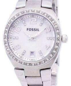 化石フラッシュ スワロフ スキー クリスタル マザーオブ パール ダイヤル AM4141 レディース腕時計
