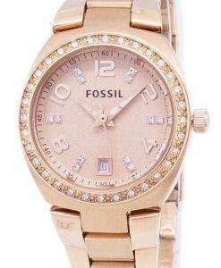 化石セレナ結晶ローズ ゴールド トーン ステンレス鋼 AM4508 レディース腕時計