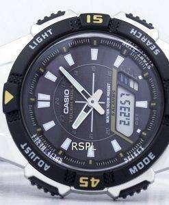 カシオ アナログ デジタル厳しい AQ S800WD 1EVDF AQ-S800WD-1 EV ソーラーメンズ腕時計