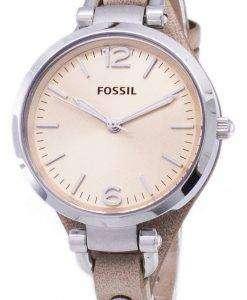 化石ジョージア砂革 ES2830 レディース腕時計