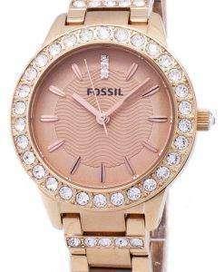 化石ジェシー クリスタル ローズ ゴールド トーン ES3020 レディース腕時計