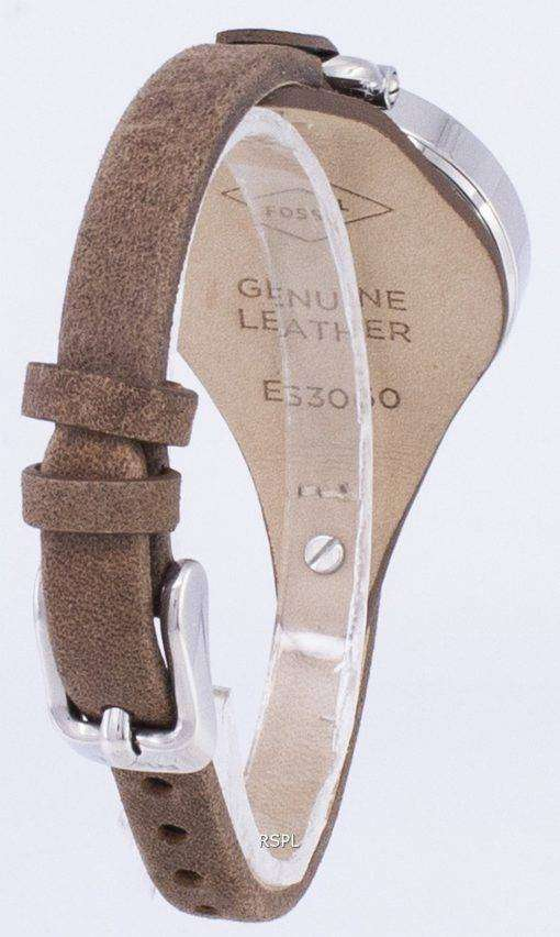 化石ジョージア シルバー ダイヤル ES3060 レディース腕時計