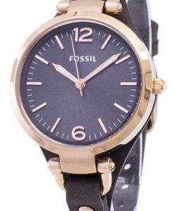 化石ジョージア グレー ダイヤル ES3077 レディース腕時計