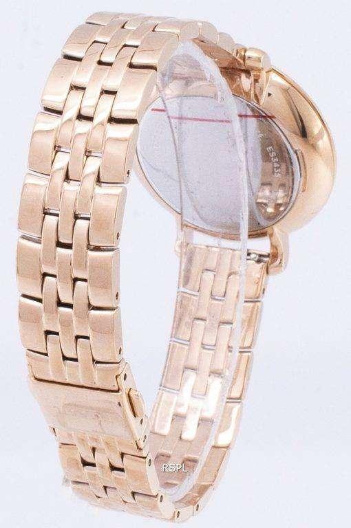 化石ジャクリーン ローズ ゴールド トーン アナログ ES3435 レディース腕時計