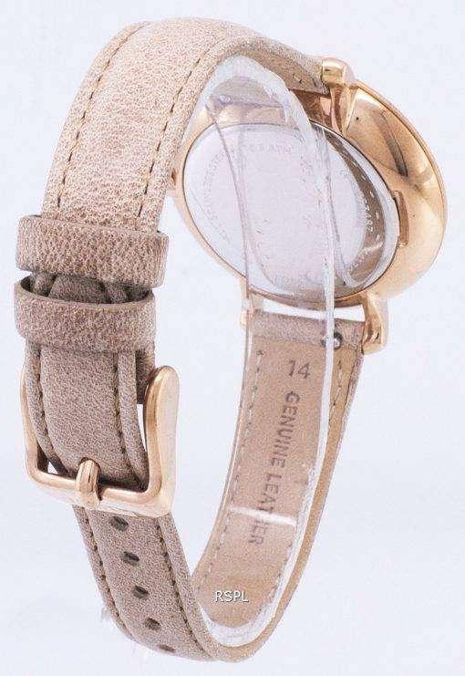 化石ジャクリーン ホワイト ダイヤル ラクダ革ストラップ ES3487 レディース腕時計