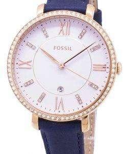 化石ジャクリーン水晶ダイヤモンド アクセント ES4291 レディース腕時計