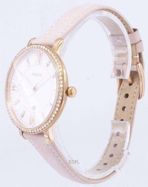 化石ジャクリーン水晶ダイヤモンド アクセント ES4303 レディース腕時計