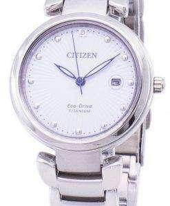 市民エコドライブ スーパー チタン EW2500 88A レディース腕時計