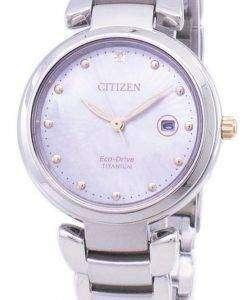 市民エコドライブ スーパー チタン EW2506 81Y レディース腕時計