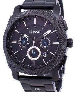 化石マシン クロノグラフ ブラック IP ステンレス鋼 FS4552 メンズ腕時計