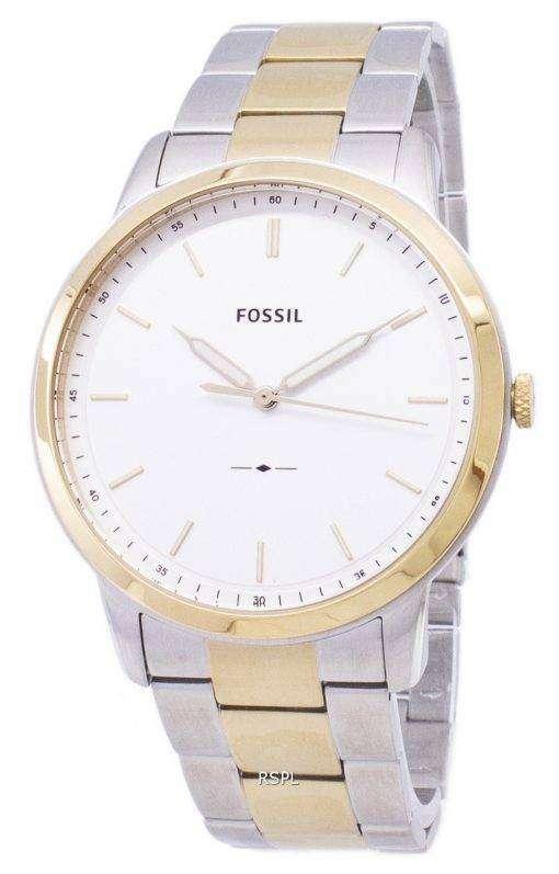 化石シンプルな 3 H 石英 FS5441 メンズ腕時計