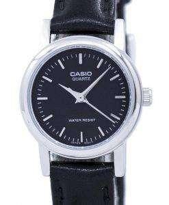 カシオ石英アナログ ブラック ダイヤル LTP 1095E 1ADF LTP-1095E-1 a レディース腕時計