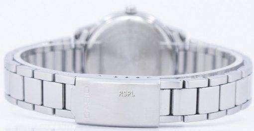 カシオ Enticer アナログ クオーツ ホワイト ダイヤル LTP 1303D 7BVDF LTP-1303D-7BV レディース腕時計