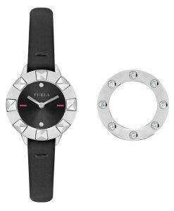 フルラ クラブ水晶ダイヤモンド アクセント R4251116505 レディース腕時計