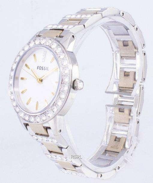 化石ジェシー クリスタル トーン水晶 ES2409 レディース腕時計