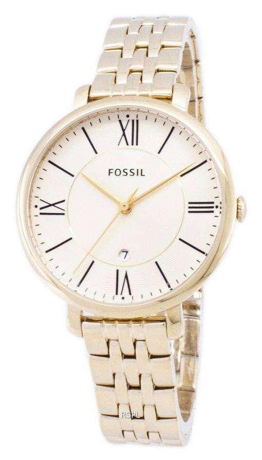 化石ジャクリーヌ ・ シャンパン ダイヤル ゴールド トーンのステンレス鋼 ES3434 レディース腕時計