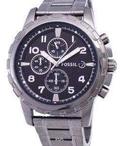 化石ディーン クロノグラフ煙灰色イオン メッキ FS4721 メンズ腕時計