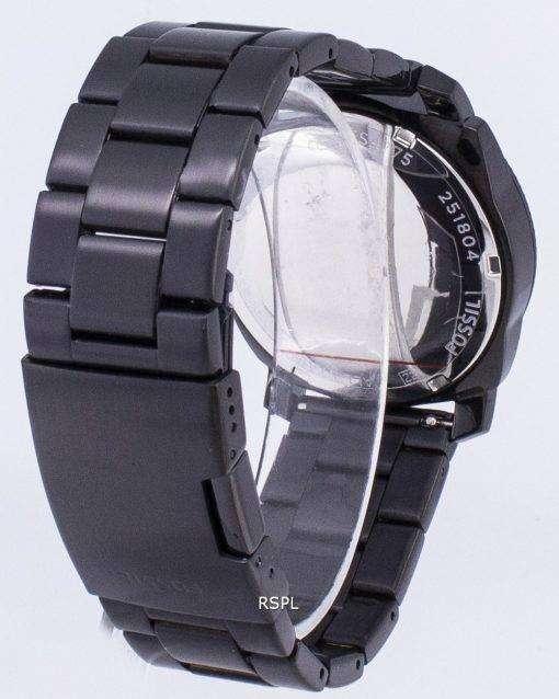 化石マシン ブラックの IP ステンレス鋼 FS4775 メンズ腕時計