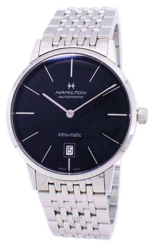 ハミルトン自動ブラック ダイヤル H38455131