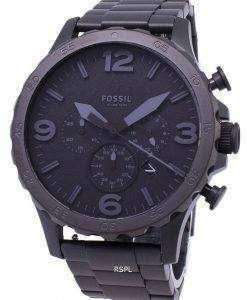 化石ネイト ブラックダイヤル ブラック イオン メッキ JR1401 メンズ腕時計