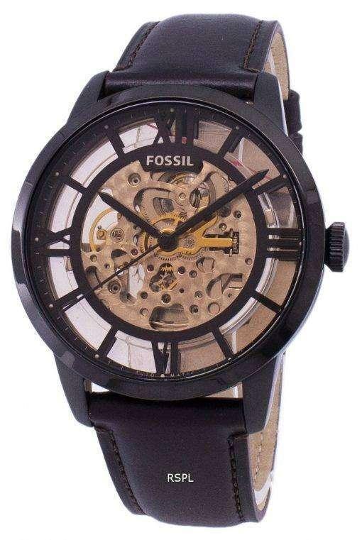 化石町民自動スケルトン ダイヤル ME3098 メンズ腕時計