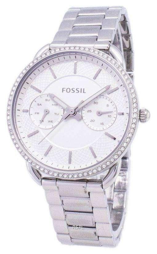 化石テーラー多機能クォーツ ダイヤモンド アクセント ES4262 レディース腕時計