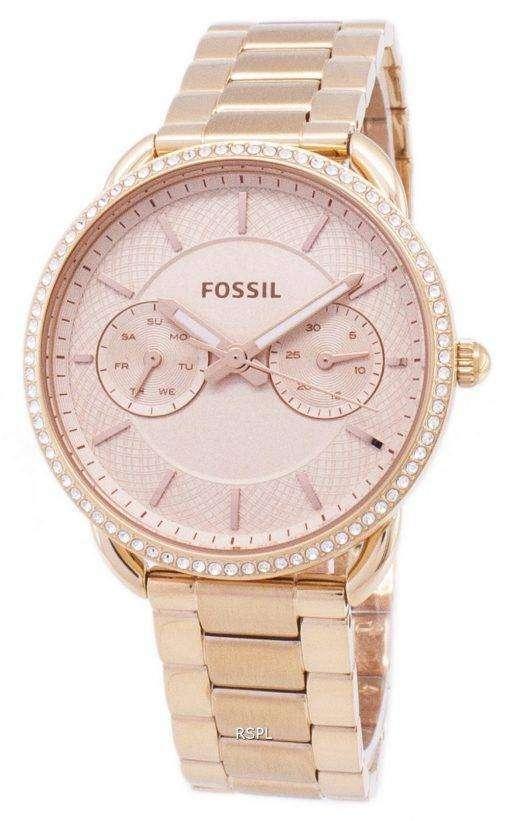 化石テーラー多機能クォーツ ダイヤモンド アクセント ES4264 レディース腕時計