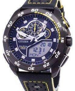 市民プロマスター エコ ・ ドライブ クロノグラフ 200 M 日本製 JW0127 04E メンズ腕時計