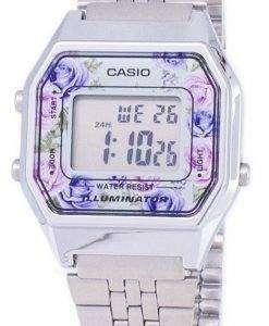 カシオ青年ビンテージ照明水晶デジタル LA680WA-2 C レディース腕時計