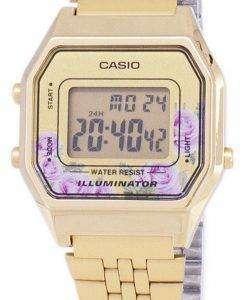カシオ ヴィンテージ照明水晶 4-c デジタル LA680WA レディース腕時計
