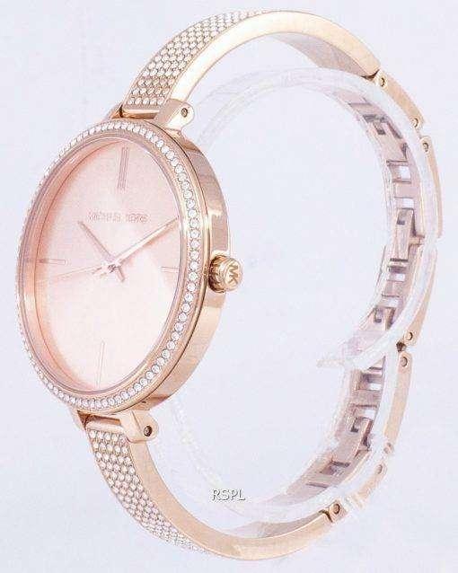 ミハエル Kors エミリア水晶ダイヤモンド アクセント MK3785 レディース腕時計