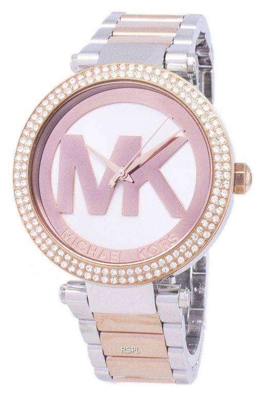 ミハエル Kors パーカー ダイヤモンド アクセント石英 MK6314 レディース腕時計