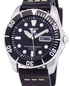 セイコー 5 スポーツ SNZF17J1 LS14 自動日本製黒革ストラップ メンズ腕時計
