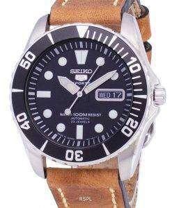 セイコー 5 スポーツ SNZF17J1 LS17 自動日本製ブラウン レザー ストラップ メンズ腕時計