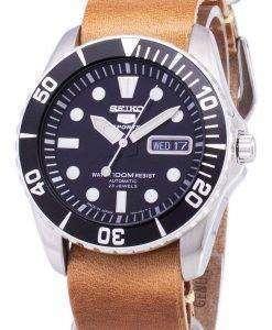 セイコー 5 スポーツ SNZF17J1 LS18 自動日本製ブラウン レザー ストラップ メンズ腕時計