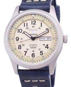 セイコー 5 スポーツ SNZG07J1 LS15 軍事日本製ダークブルーのレザー Srtap メンズ腕時計