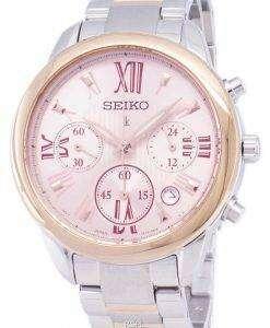 セイコー Lukia クロノグラフ クォーツ SRWZ90 SRWZ90P1 SRWZ90P レディース腕時計