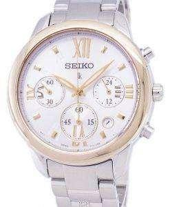 セイコー Lukia クロノグラフ クォーツ SRWZ92 SRWZ92P1 SRWZ92P レディース腕時計