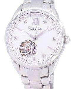 ブローバ自動 96 P 181 ダイヤモンド アクセント レディース腕時計