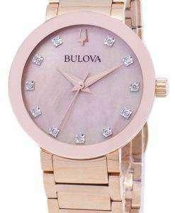 ブローバ現代 97 P 132 ダイヤモンド アクセント クォーツ レディース腕時計
