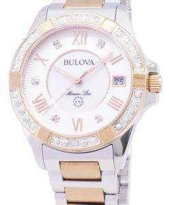 ブローバ海洋星 98R234 ダイヤモンド アクセント クォーツ レディース腕時計