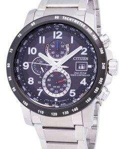 市民エコドライブ AT8124 83E 電波パワー リザーブ 200 M メンズ腕時計