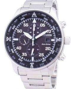 市民飛行士 CA0690 された 88E エコ ・ ドライブ クロノグラフ メンズ腕時計