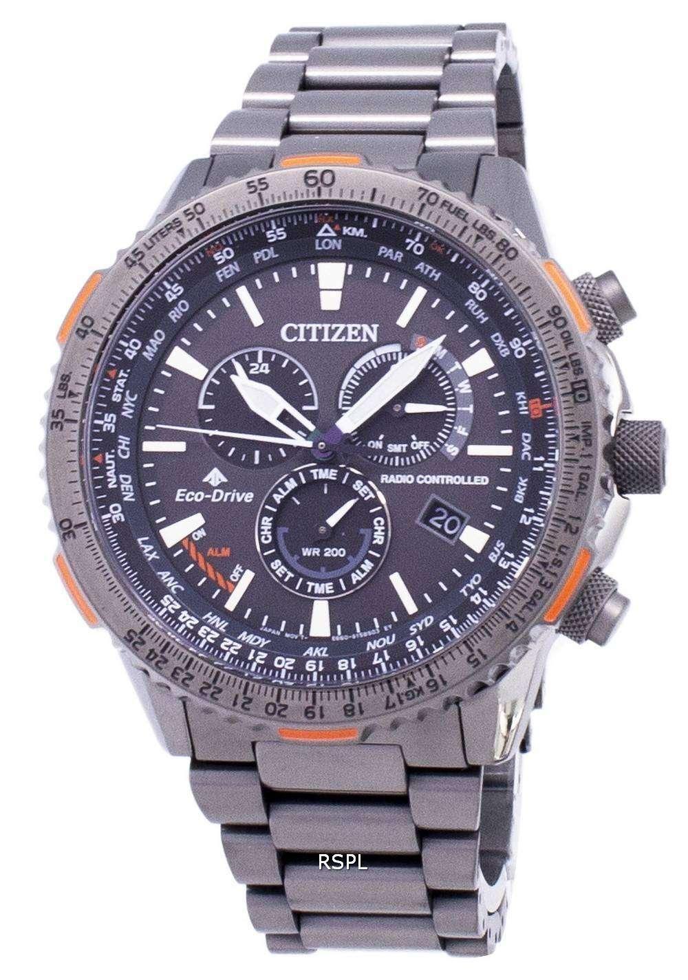 市民プロマスター スカイ エコ ・ ドライブ CB5007-51 H 電波 200 M メンズ腕時計