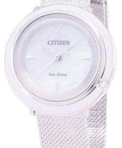 シチズンエコ ドライブ L EM0640 82D アナログ ダイヤモンド アクセント レディース腕時計
