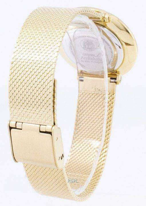 シチズンエコ ドライブ L EM0642-87 P アナログ ダイヤモンド アクセント レディース腕時計